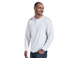 145G Henley Long Sleeve T-Shirt