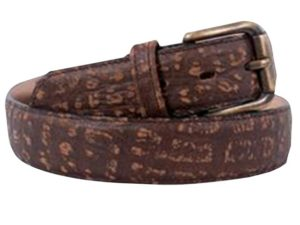 35Mm Buffalo Emboss On Genuine Leather With Genuine Leather Backer Mens Exotic Belt