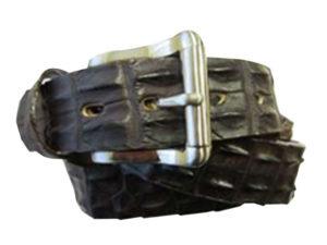 35Mm Genuine Crocodile On Genuine Leather Backer Mens Exotic Belt