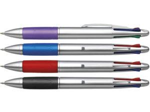 4 Colour Ballpoint Pen With Rubber Grip