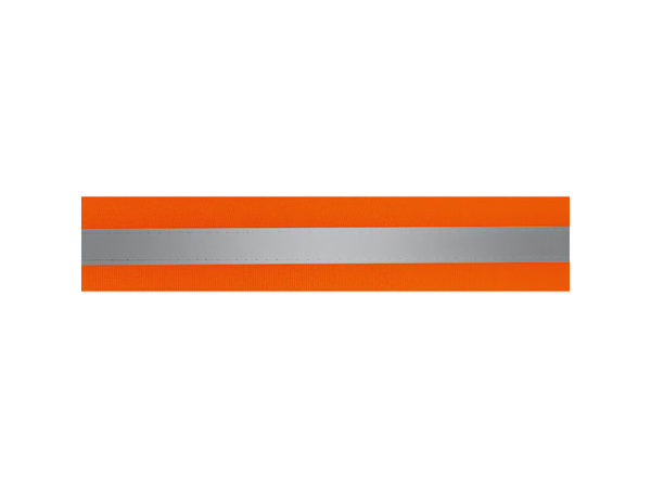 50Mm Orange and Silver Reflective Tape