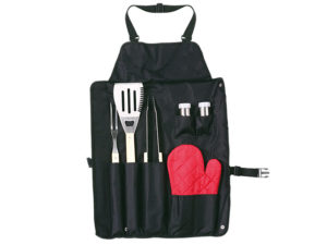 6 Piece Barbeque Set in Apron