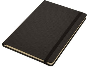 A5 Carbon Pu Notebook With Elastic