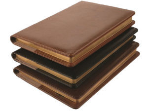 A5 Leather Valenti Slip On Cover  Notebook