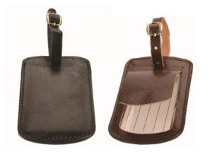 Adpel Bon Voyage Leather Luggage Tag