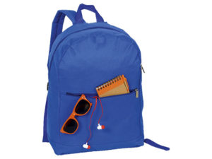 Arch Design Backpack With Zippered Front Pocket