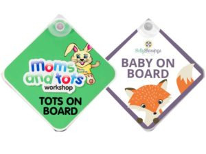 Baby On Board Sign With Suction Cap And Full Colour Sticker