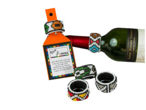 Beaded Wine Bottle Collar