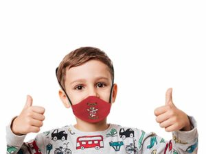 Boomer 3 Layer Washable Beak Mask With Fc For Kids Age: 4-8Years