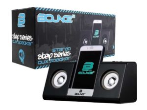 Bounce Step Series Aux Speaker With Phone Cradle