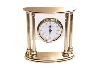 Brass Pillar Clock