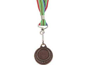 Bronze Medal With Sa Flag Ribbon
