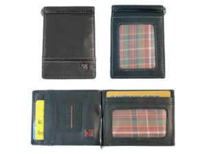 Busby Toulon Note Clip Rfid Leather Wallet