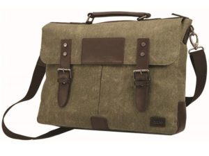 Canvas And Leather Briefcase