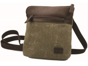 Canvas And Leather Cross Body Bag