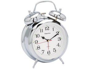 Chrome Bell Clock