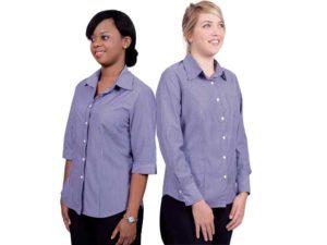 Cotton Rich Fibre Dyed Stripes Ladies Wendy Blouse