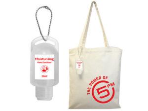 Cotton Shopper Bag With 50Ml Sanitiser