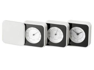 Desk Clock 3 Tier With Temp/Humidity Gauge