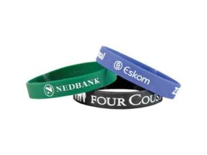 Embossed / Debossed And Filled With Colour Silicone Band
