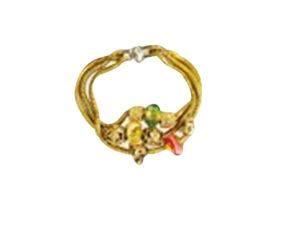 Gold Triple Cord Bracelt