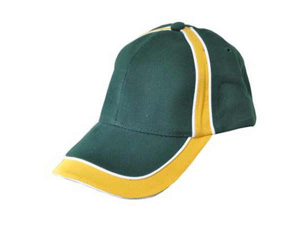 Green Cap With Yellow Border