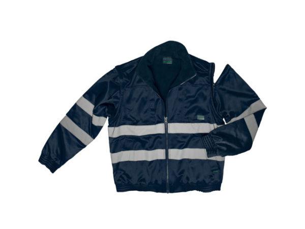 Hi-Vis Fleece Lined Bomber Jacket