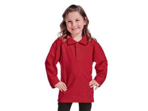 Kiddies 175G Pique Knit Long Sleeve Golf Shirts