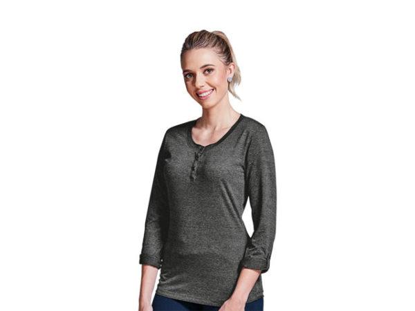 Ladies 145g Henley Long Sleeve T-Shirt