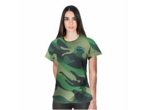Ladies Camouflage Crew Neck TshirtL With Fc