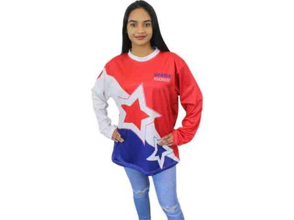 Ladies Phoenix Long Sleeve Crew Neck T-Shirt