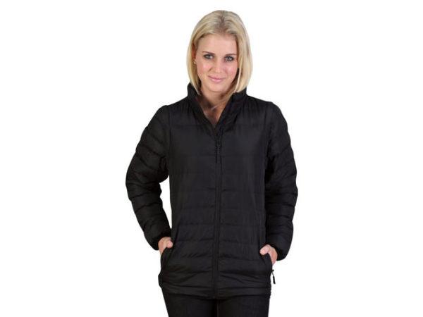 Ladies Zip Off Sleeve Puffer Jacket