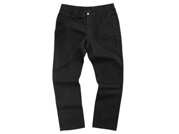 MenS Black Bull Denim Five Pocket Denim Work Jeans  Classic Fit