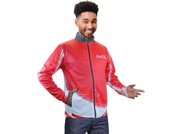 Mens Indigo Sublimated Soft Shell Jacket