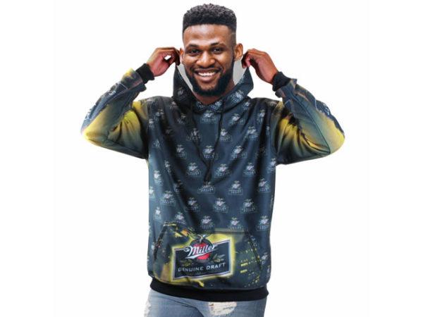 Mens Lyrik Sublimated Brushed Fleece Hooded Sweater