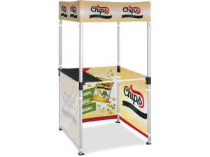 Ovation Gazebo 1 X 1M Kiosk 3 Half Walls