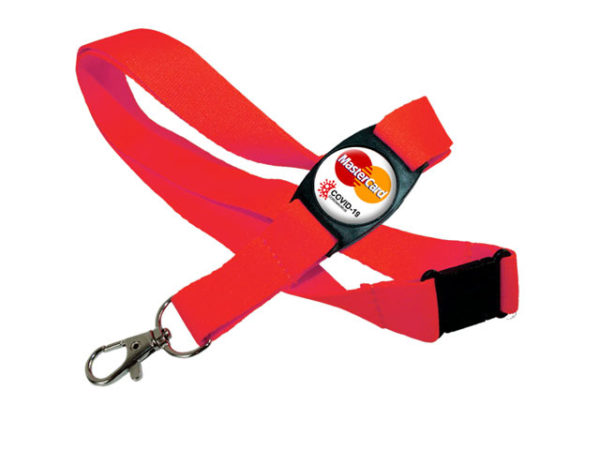 Polyester Lanyard with Domed Buckle and Snap hook
