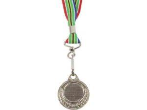 Silver Medal With Sa Flag Ribbon
